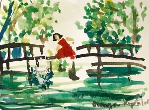 ANYA KOPOTILOVA AMELIE WATERCOLOR FAVORITE MOVIE