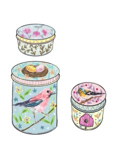 green rain art  bird tins vrs 1