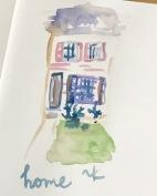 green rain art home watercolor