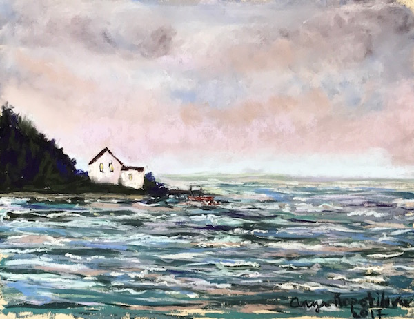 Anya Kopotilova House by the Sea soft pastel