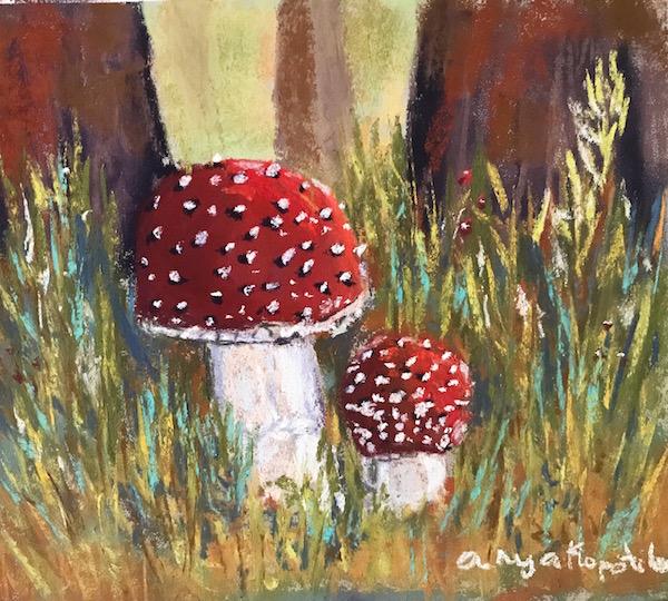 Anya Kopotilova toadstools soft pastel