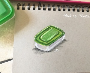 plastic container drawing