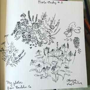 green rain art floral comosition study 1