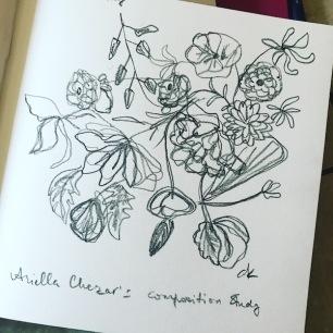 greenrainart floral composition study2