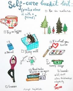 self care bucket list green rain art