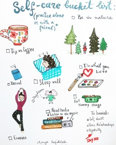 self care bucket list green rain art