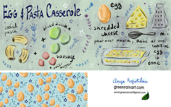 Egg-and-Pasta-greenrainart-Anya-Kopotilova