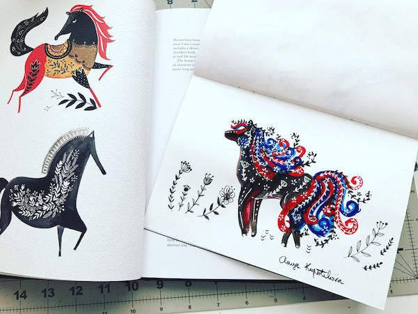 folk art horse 2