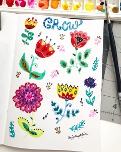 grow folk art greenrainart