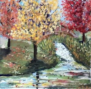 Hudson Garden autumn sot pastel painting greenrainart.com
