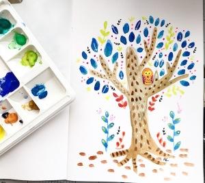 tree folk art 1 greenrainrt