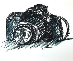 5 minute sketch camera greenrainart