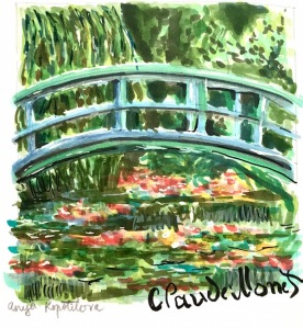 Monet painting marker sketch greenrainart