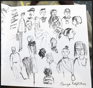 People of DIA greenrainart sketch