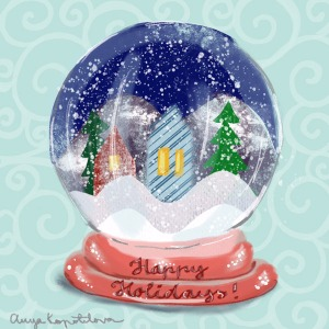 snow-globe-greenrainart
