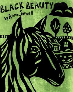 Black Beauty book cover illustration