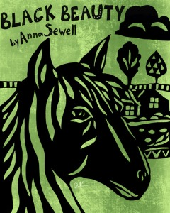 Black Beauty book cover illustration