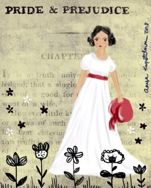 Elizabeth Bennet illustration greenrainart