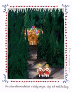 Hansel and Gretel illustration greenrainart.com